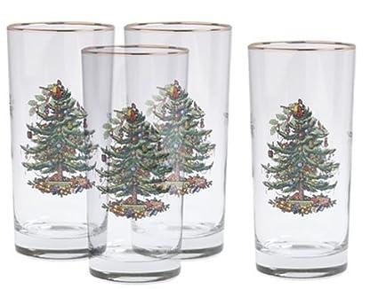 Spode Christmas Tree Hiball Glasses, Set of 4 - Amazon.com: Spode Christmas Tree Hiball Glasses, Set Of 4: Highball