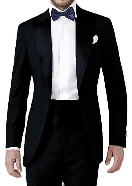 Amazon.com: Everbeauty - Traje de esmoquin para hombre de 2 ...