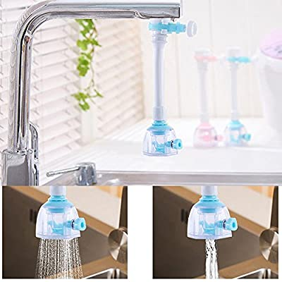 Kitchen Faucet Sprayer Aerator Hose Flexible Sink Attachment Swivel Diffuser Nozzle Filter Shower Head For Bathroom Water Saving Rotate Tap Bubbler With Dual Spray HOMEDEN