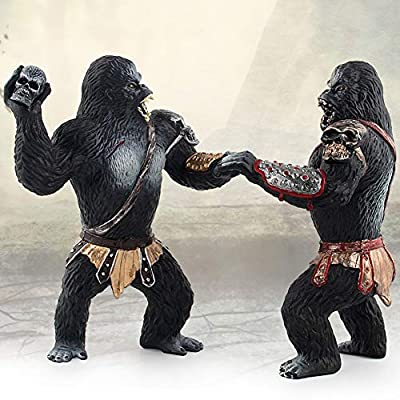 1pc Realistic King Kong Toys Simulation Chimpanzee Model Solid Black Orangutan Figure Home Decoration King Kong Toys For Kids: Toys & Games