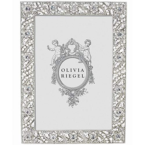 ELOISE Austrian Perle & Crystal 5x7 frame by Olivia Riegel - 5x7 (Silverplate Faux Crystal Pearl)