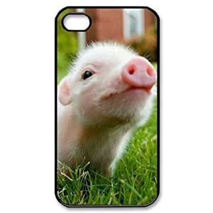 Iphone 4,4S 2D DIY Hard Back Durable Phone Case with Piggy Image