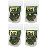 Vermont Kale Chips - 4 PACK: 1oz Garlic, Scallion Kale Chips, Raw, Gluten Free, Snack