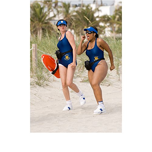 Reno 911 Kerri Kenney as Trudy and Niecy Nash as Raineesha Running in Blue Bathing Suits 8 x 10 inch -
