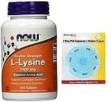 AHORA fuerza del doble de L-lisina 1000 mg, 100 tabletas con gratis 7 días plástico píldora organizadores Review