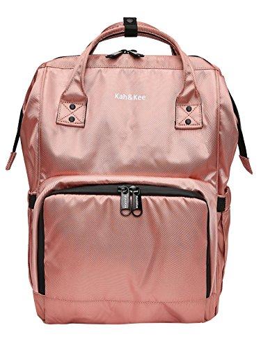 Kah&Kee Diaper Bag Backpack Organizer Waterproof Multifunction Anti-theft Travel Bags for Boys/Girls (Pink)