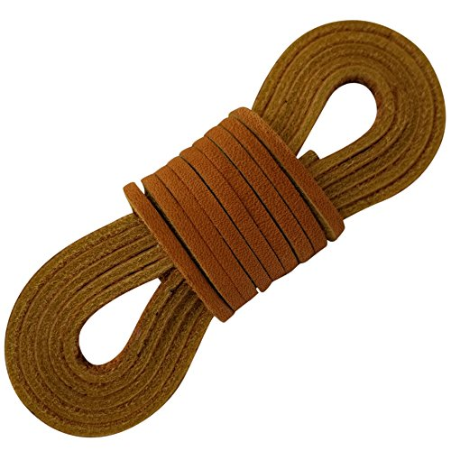 Tofl Leather Boot Laces-1 Pair Tan 72 Inches Long--Easy Sizing Cut to Fit (Tan) (Women Boots Laces)