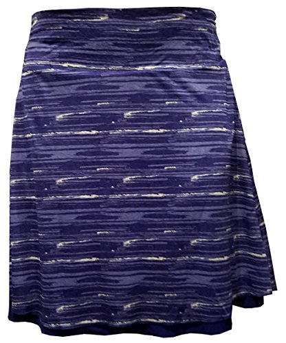 Tranquility by Colorado Clothing Ladies Reversible Skirt - Casual, Dressy, Knee Length, Wrinkle Resistant - Choose Colors and Sizes (L, Cobalt Paint) ()
