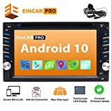 Double Din Car Stereo Android 9.0 Car DVD CD Player with GPS Navigation Bluetooth In Dash Audio Stereo System Capacitive Touch Screen Radio Receiver FM/AM 1080P WiFi Mirror Link Steering Wheel Control