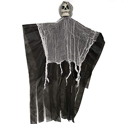 XINGSHENG Halloween Haunted House Bar Dress Up Horror Hanging Ghosts Tidy Holiday Dress Up Atmosphere,Halloween Hanging Ghost - Large Life-Size Halloween Prop Skull -