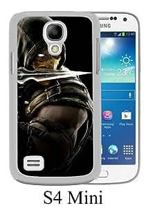 Mortal Kombat X Scorpion Equipment White New Style Custom Samsung Galaxy S4 Mini Cover Case