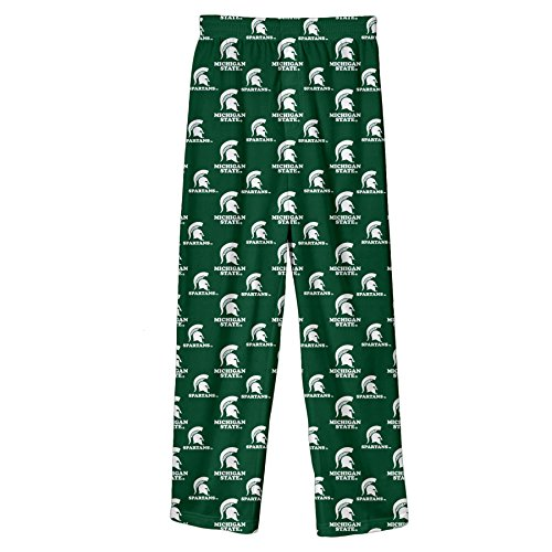 NCAA by Outerstuff NCAA Michigan State Spartans Youth Boys Team Color Printed Pant, Hunter Green, Youth - Pants Michigan State