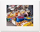 Matted Photo Print – Selling Garlands – Delhi, India – 16x20-11x14-8x10