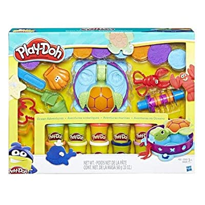 Play-Doh Ocean Adventure Mega Set with 10 Pack of Dough & 20 Tools: Toys & Games