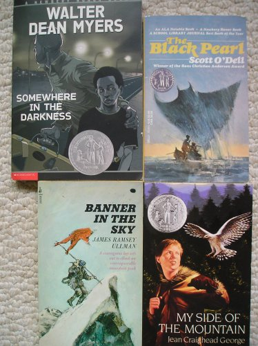 Newbery Honor Set (Somewhere in the Darkness, Banner in the Sky, The Black Pearl, My Side of the Mountain) (Somewhere In The Darkness By Walter Dean Myers)
