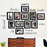 Family Wall Decal-Classic-Set of 10 Family Words Quote Family Wall Sticker Picture Wall Decal  (The Picture. No Photos Included)