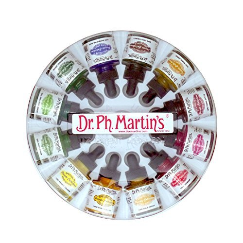 Dr. Ph. Martin's Spectralite Private Collection Liquid Acrylics Bottles, 1.0 oz, Set of 12 (Set 2) by Dr. Ph. Martin's