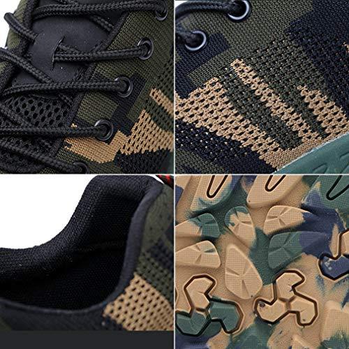 Hibote Scarpe in Uomo con 36 Taglia Scarpe Colori Camuffare Sneaker Acciaio Sicurezza Sportive Lavoro 46 Respirabile Antinfortunistiche da Punta di Adulto Quattro rCrwvxq40