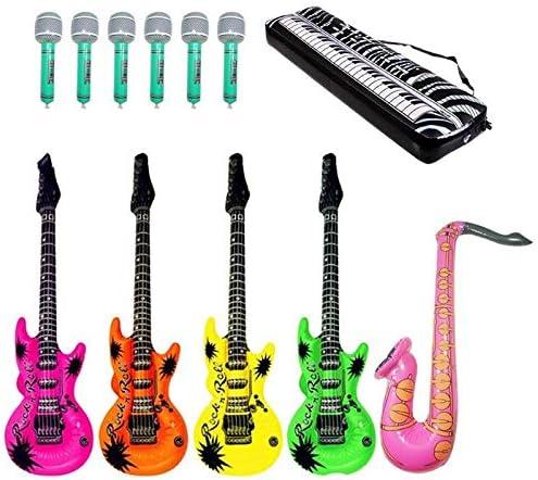 LIZHIOO 12 Piezas Micrófono Teclado Piano Saxofón Guitarra Papel ...