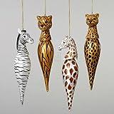 GLASS ANIMAL FINIAL ORNAMENT AMEN - Christmas Ornament