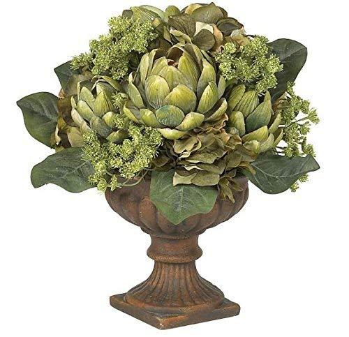 SKB Family Artichoke Centerpiece Silk Flower Arrangement