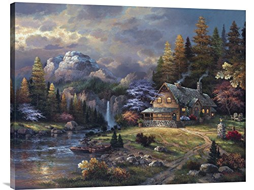 Global Gallery Budget GCS-127034-2835-142 James Lee Mountain Hideaway Gallery Wrap Giclee on Canvas Print Wall Art - James Lee Mountain Hideaway