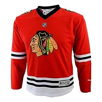 NHL Youth Chicago Blackhawks Team Color Replica Jersey - R58Hwbdd (Red, Small/Medium)