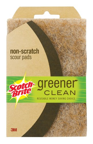 Scotch-Brite Greener Clean Non-Scratch Scour Pad, 2-Pack
