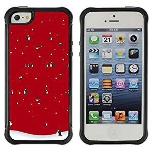 Paccase / Suave TPU GEL Caso Carcasa de Protección Funda para - Winter Christmas Penguin Snow - Apple Iphone 5 / 5S