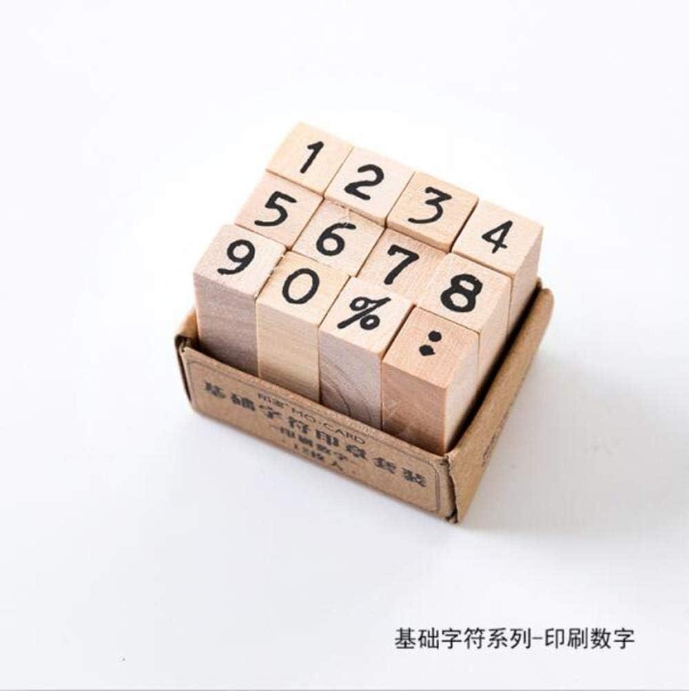 A. Sello Vintage grundlegende Alphabet Nummer Zeichen Stempel DIY Holzstempel f/ür Scrapbooking Schreibwaren Scrapbooking Standard Stempel