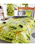 Wild Things Junior Toddler Duvet Cover and Pillowcase Set - Lion, Giraffe, Elephants and More!