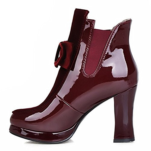 Botines Tacon Mujer Wine para Ancho de 2 Red Coolcept BqxTZvUdv