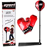 VIVOHOME Boxing Punching Ball Bag Set with Adjustable Stand and Gloves for Kid over 3 Years