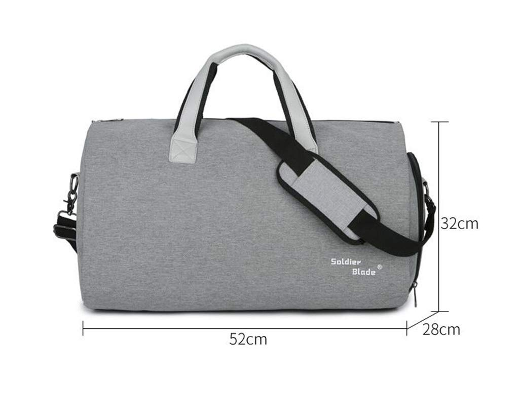 Color : Black, Size : 26 inches QJXSAN Mens Travel Tote Multifunction Dustproof Waterproof Wet Separation Independent Shoe Bag Shoulder Messenger Bag Suit Business