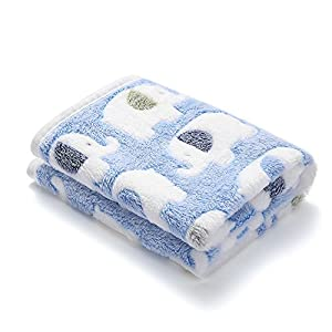 Luciphia 1 Pack 3 Blankets Super Soft Fluffy Premium Fleece Pet Blanket Flannel Throw for Dog Puppy Elephant Small