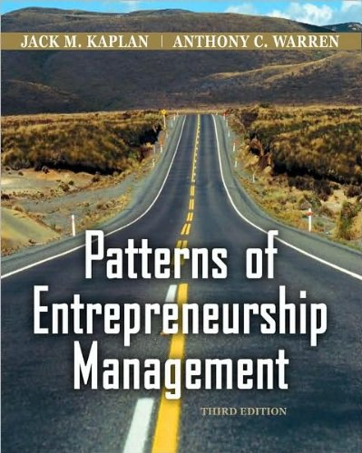 Patterns of Entrepreneurship Management (text only) 3rd (Third) edition by J.M.. Kaplan.A.Warren Text fb2 ebook