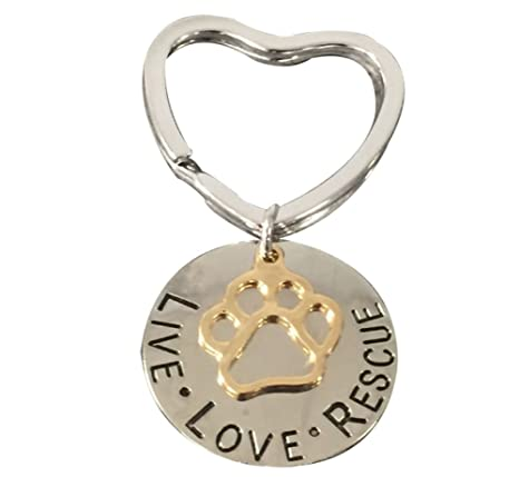 Infinity Collection Pet Rescue Jewelry, Live Love Rescue Keychain - Paw Print Jewelry, for Dog or Cat Owners