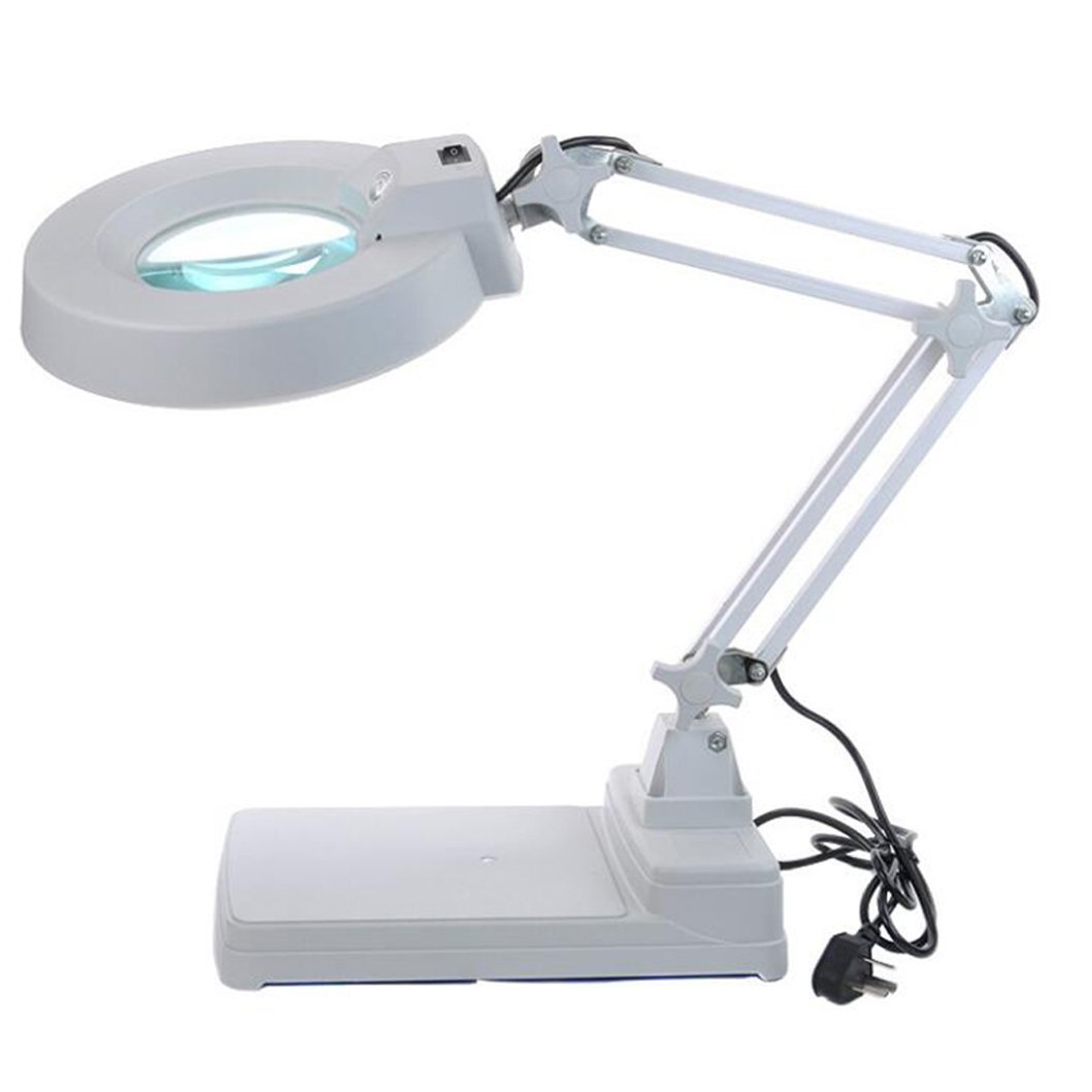 Zorvo LED Magnifying Glass Desk Lamp for Close Work,10x Magnification lamp with Large Glass 5'' Diameter- Lighted Magnifier for Reading, Crafts & Pro Tasks Hobby Adjustable Arm by zorvo