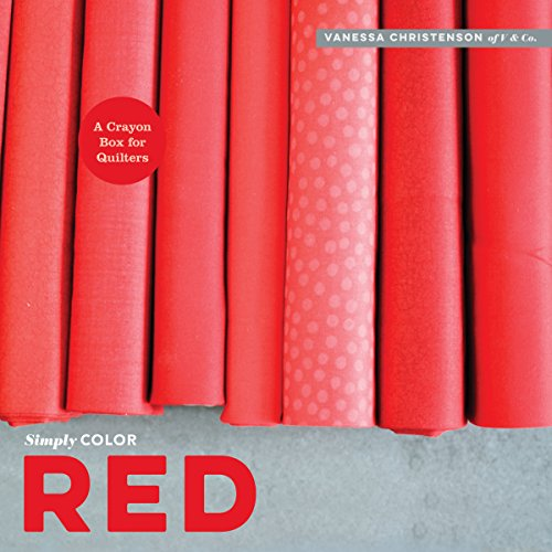 red a crayon box for quilters - 1