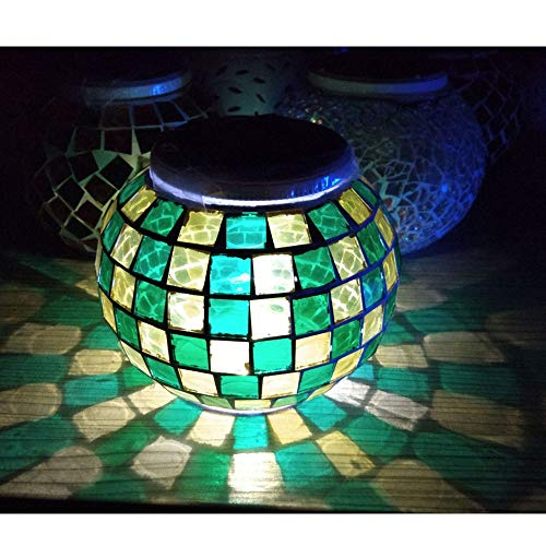 Access Control Kits Mosaic Glass Outdoor Solar Power Light Color Changing Lawn Ball Lantern Led Light Yard Garden Holiday Decoration Lighting Lamps Security & Protection