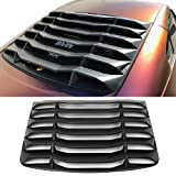 Automotive : Windshiled Louver Fits 2003-2008 Nissan 350Z | IKON Style Matte Black ABS Plastic Rear Window Slotted Louver Sun Shade Cover by IKON MOTORSPORTS | 2004 2005 2006 2007