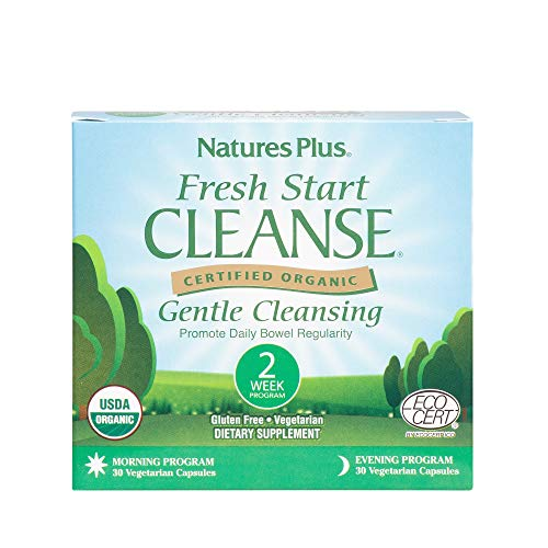 (Natures Plus Fresh Start Cleanse Kit - 2 Week Morning & Evening Program, 60 Vegetarian Capsules - Colon Cleanse Detox for Weight Loss, Prune & Fiber for Regularity - Organic, Gluten Free - 30 Servings)