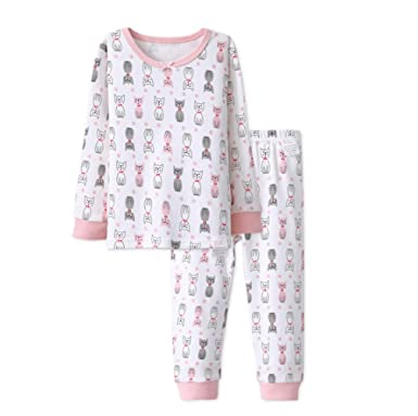 d54c17937 Amazon.com  1-5 Years Girl Pattern Long Johns Thermal Underwear Set ...