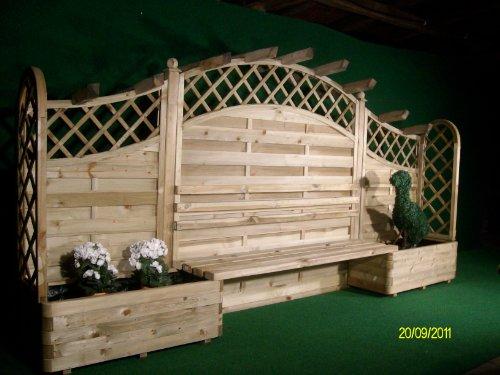 sichtschutz pflanz sitzbankset amazonde garten - Gartenbank Mit Sichtschutz