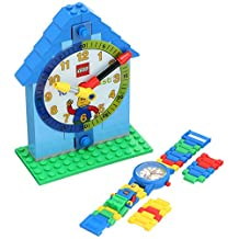 LEGO Time Teacher Set Blue with Minifigure Link Watch, Constructible Clock and Activity Cards 9005008