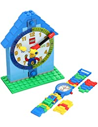 Time Teacher Blue Kids Minifigure Link Buildable Watch, Constructible Clock and Activity Cards | blue/green | plastic | 28mm case diameter| analog quartz | boy girl | official