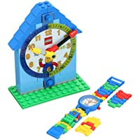 LEGO 9005008 Time Teacher Blue Kids Minifigure Link Buildable Watch, Constructible Clock and Activity Cards | blue/green | plastic | 28mm case diameter| analog quartz | boy girl | official