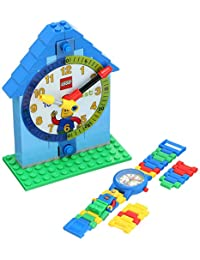 Lego 9005008 Reloj Análogo-Digital para Niño Time Teachers, color blanco/azul