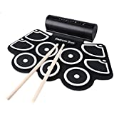 New KONIX W760 Silicon Electronic 9 Pad Roll Up Drum With Pedals By KTOY