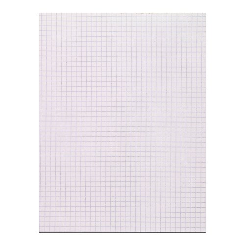 Roaring Spring Gummed Pad, 8.5 x 11 Inches, White, 4x4 Graph